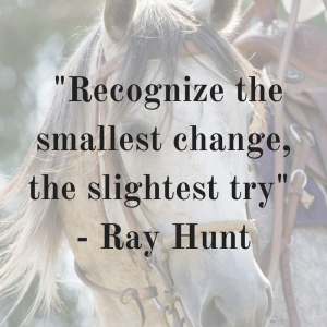 _Recognize the smallest change, the slightest try_, Ray Hunt
